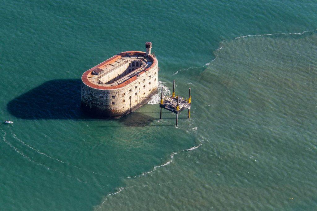 Vue aérienne du Fort Boyard
